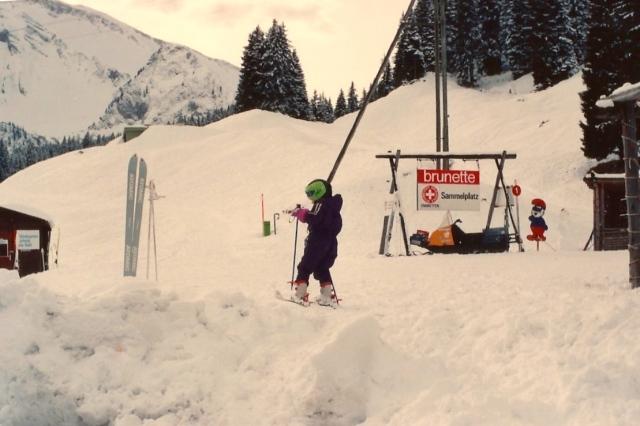 A intimidade da Suíça com a neve.