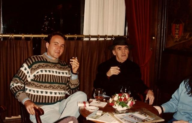 Com Sebastião Nery e Cristina no Hotel L'Europe