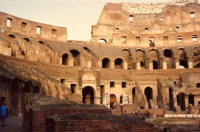 Detalhes do Coliseu.