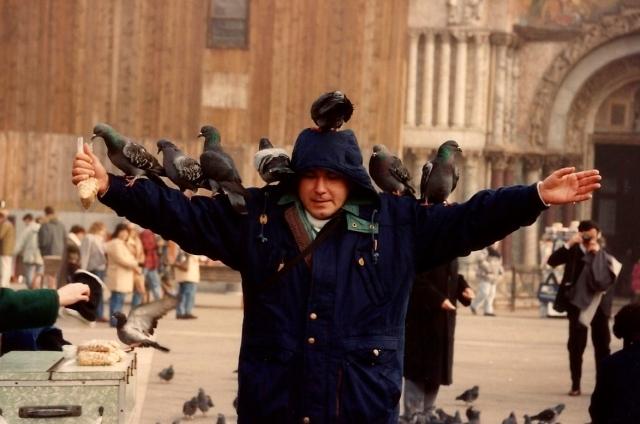 Os pombos da Praça de São Marcos