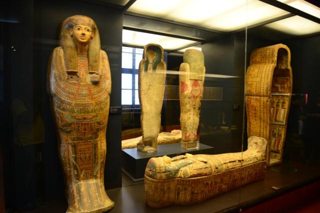 A área egípcia dos Museus é muito rica.