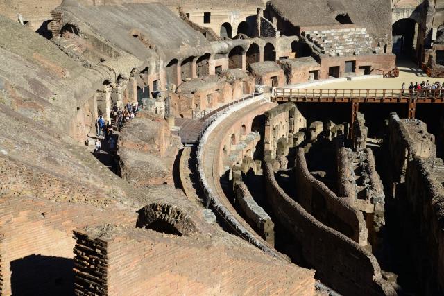 Do terceiro nível temos vistas especiais do Coliseu.