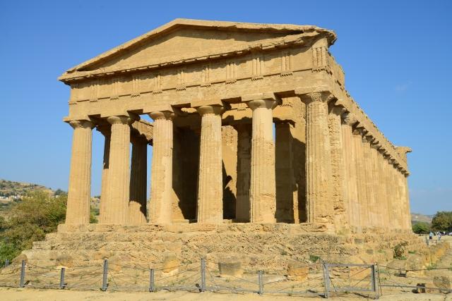 O espetacular Templo da Concórdia.