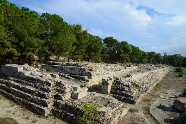 Túmulo grego no Parque Arqueológico de Siracusa