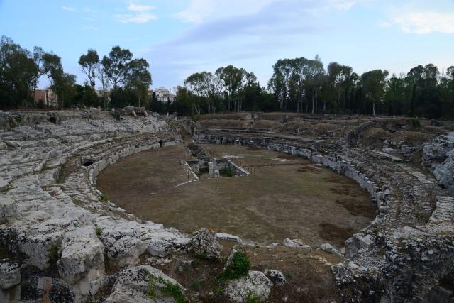 O anfiteatro Romano de Siracusa.