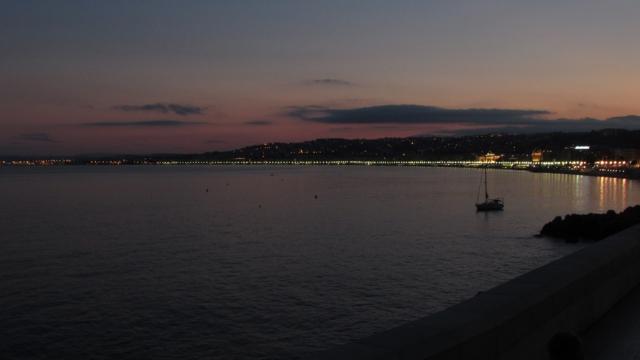 Por do Sol no Mar Mediterrâneo