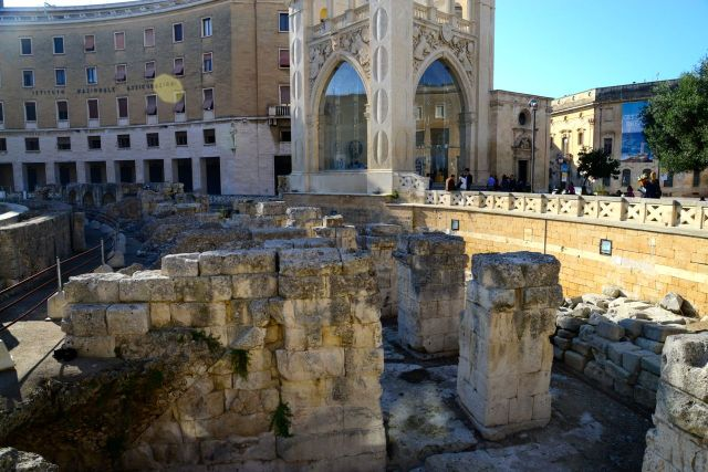 Ruínas romanas em Lecce.