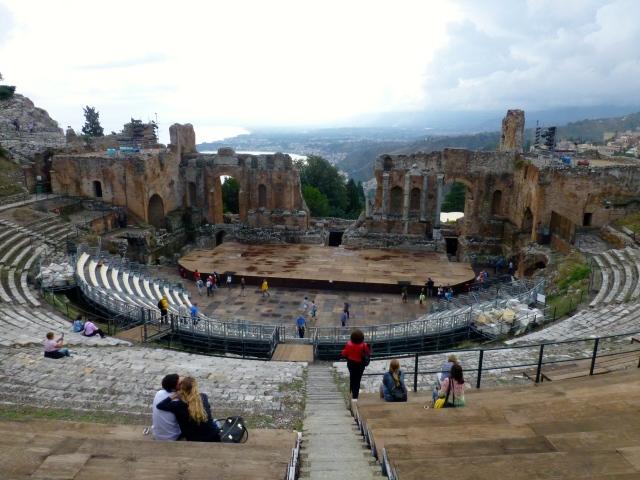 O Teatro Romano de Taormina