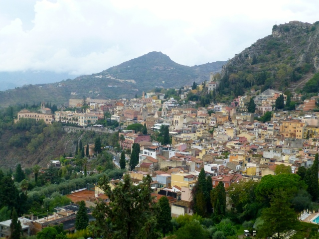 Vista panorâmica de Taormina.