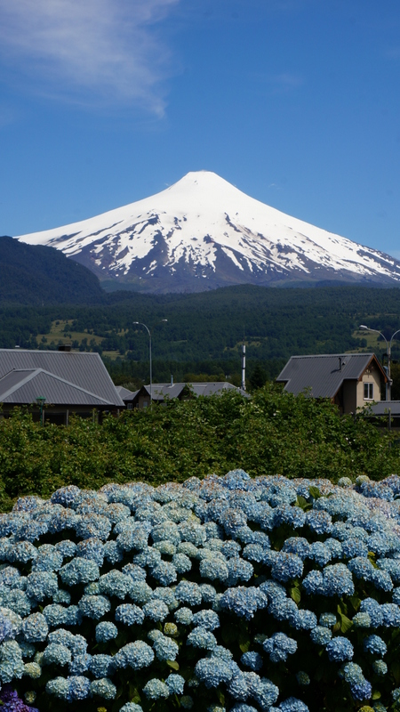 Vista do Hostel - vulcão Villarrica