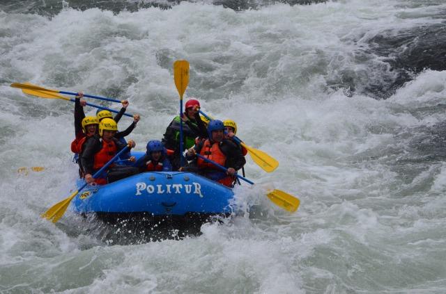 Rafting no rio Trancura