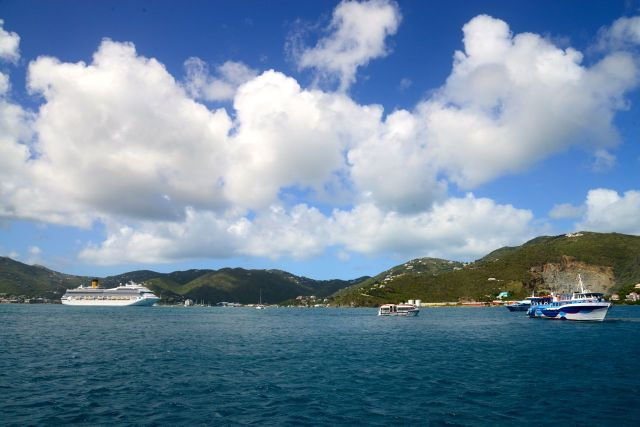 A Ilha de Tortola nas Ilhas Virgens Britânicas.