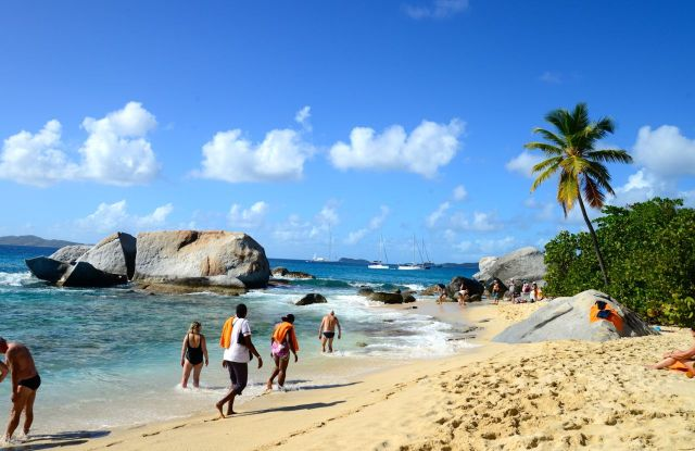 The Bath, a praia do Parque Nacional da Virgin Gorda.