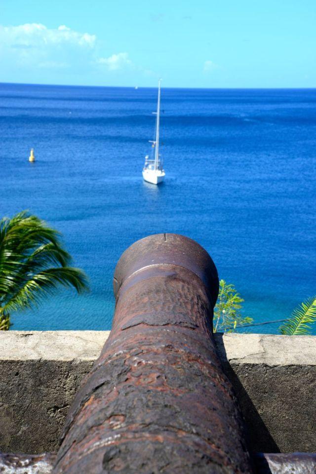 Sentinela avançada em Saint Pierre na Martinica.