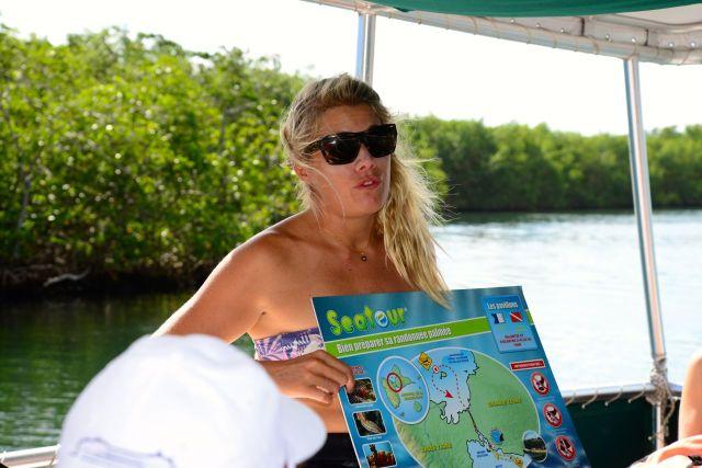 Instruções para a prática de snorkling.