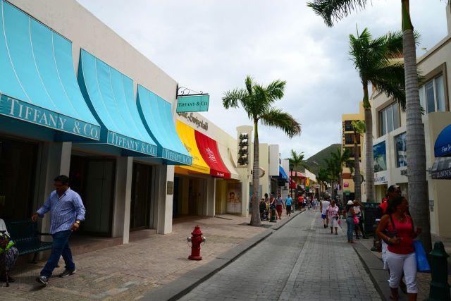 Comércio chique em Sint Maarten
