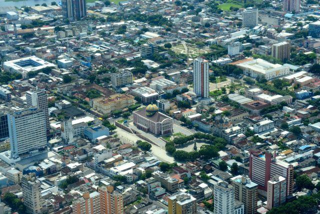 Vista aérea da cidade de Manaus.