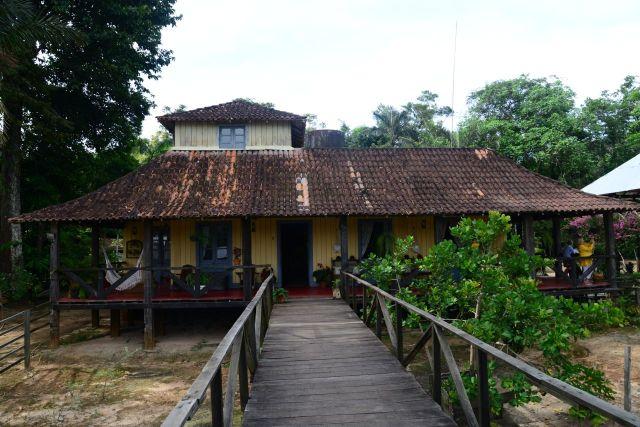 A casa do Barão da Borracha.