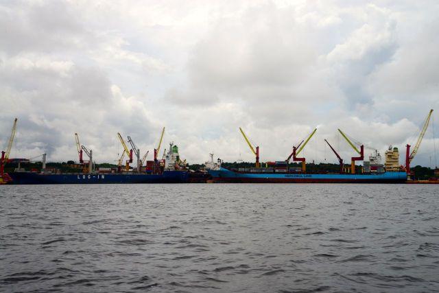 O importante Porto de Manaus
