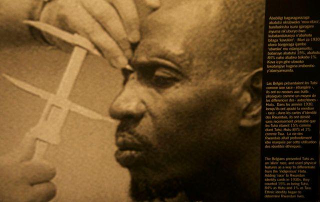 Método de identificação dos Tutsis.