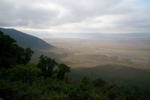 A Cratera do Ngorongoro, na Tanzânia