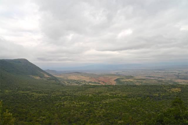 O caminho para a Reserva Masai Mara no Quênia.