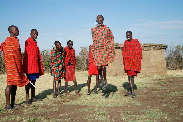 As danças Masai.