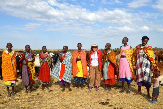 As mulheres masai.