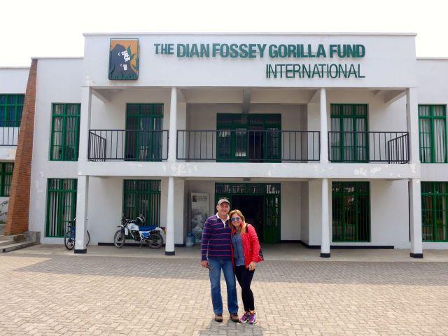 A sede do The Dian Fossey Gorilla Fund em Kinigi.