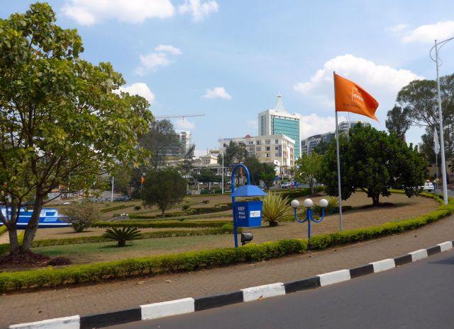 A área moderna de Kigali.