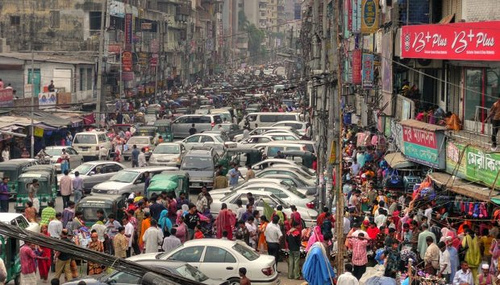Trânsito caótico em Nairobi - foto do site https://tecnoblog.net/