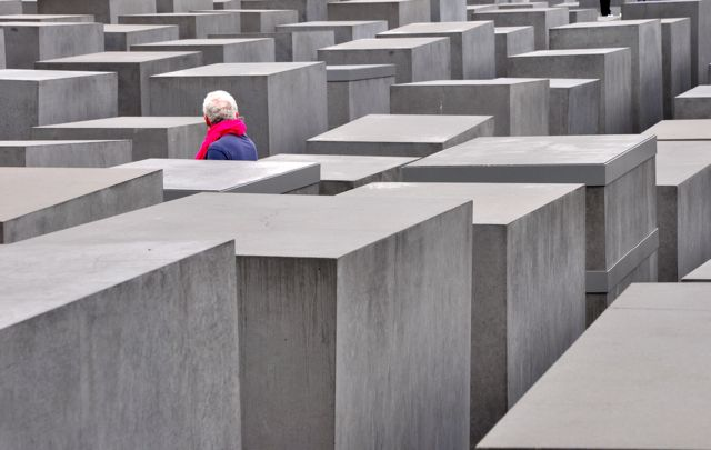 O Memorial do Holocausto em Berlim.