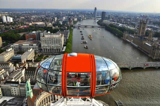 Detalhe da London Eye.