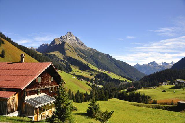 Paisagem do Tirol na Áustria.