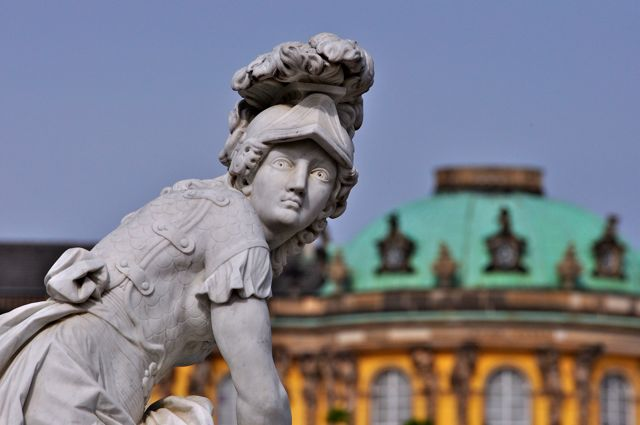 Imagem do Palácio Sanssouci em Potsdam.