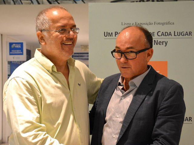 O designer Pedrinho da Rocha e Joaquim Nery