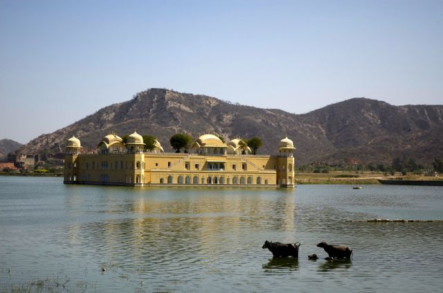 O Jal Mahal - Palácio de Água de Jaipur