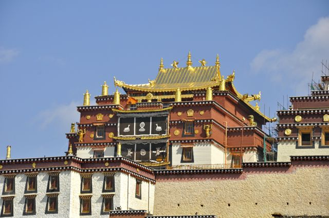 O mosteiro tibetano Songzalin Si