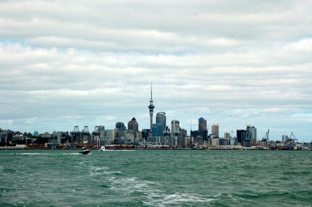 Skyline de Aukland na Nova Zelândia
