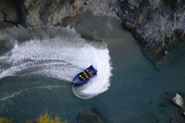 O Jet Boat no Rio Shotover