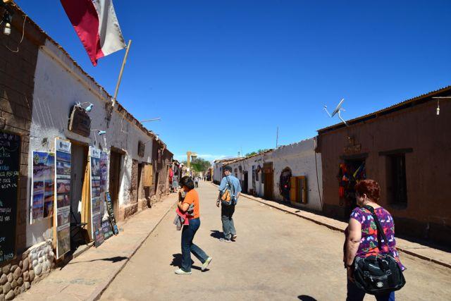 Rua Caracoles. A principal rua de San Pedro de Atacama