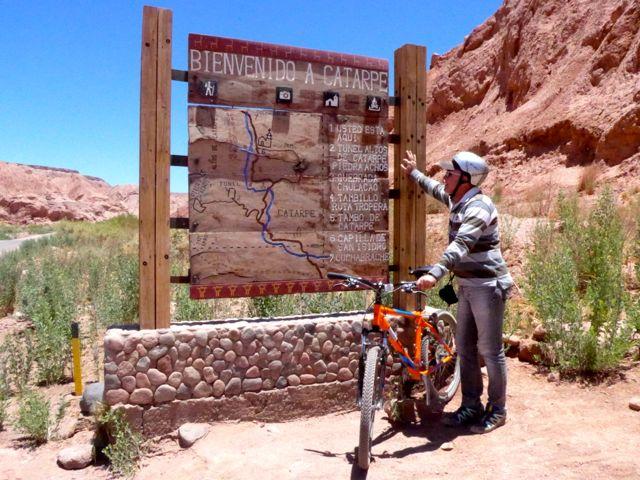 A trilha que seguimos no Atacama.