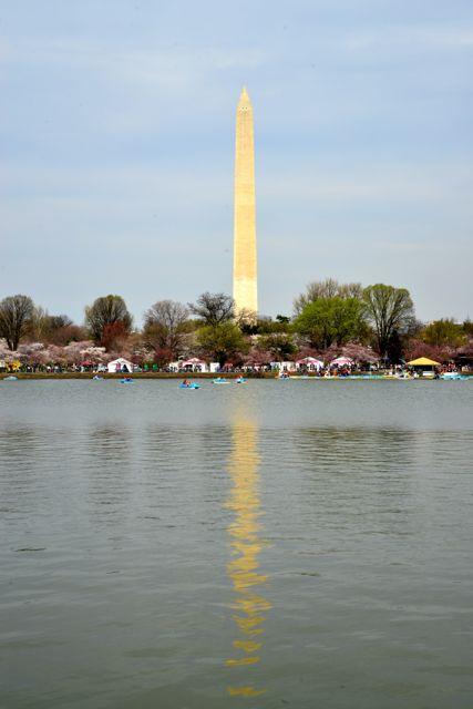 É possível ver a diferença de cores no Obelisco.