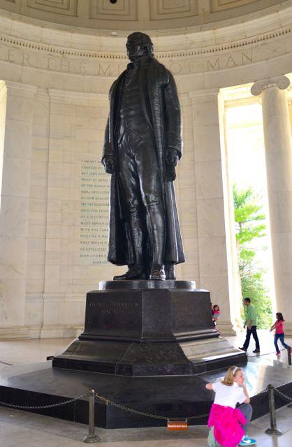 A estátua de Thomas Jeferson