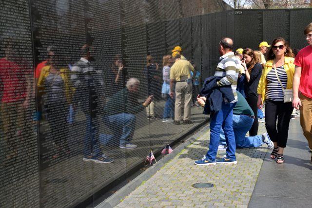 O Memorial dos Veteranos da Guerra do Vietnam.