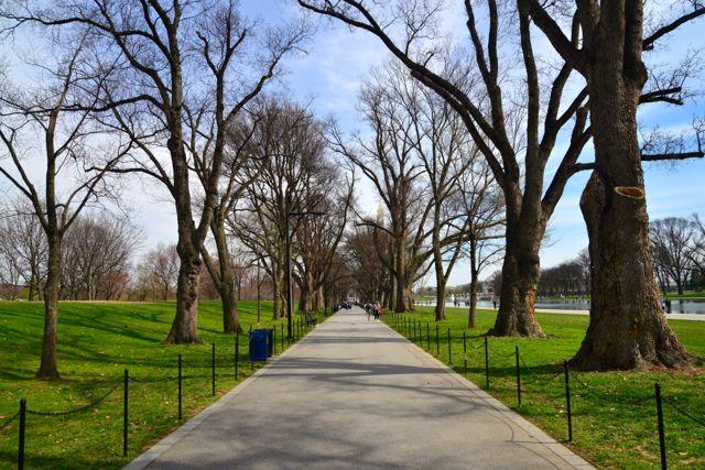 O parque onde ficam os memoriais é um excelente local para caminhadas.
