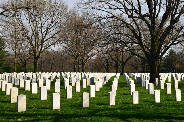 O Cemitério de Arlington.