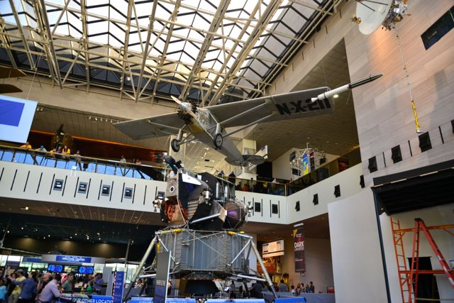 O Museu Nacional Aero Espacial estava lotado.