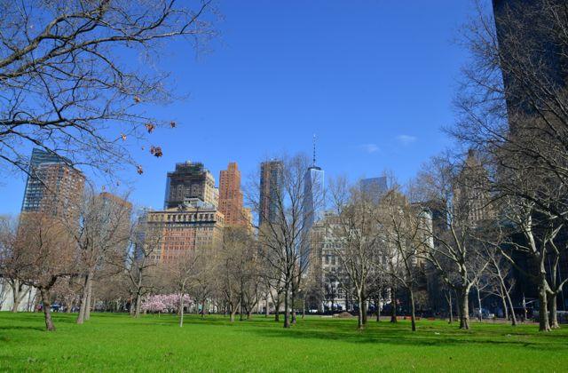 O Battery Park de Nova York.
