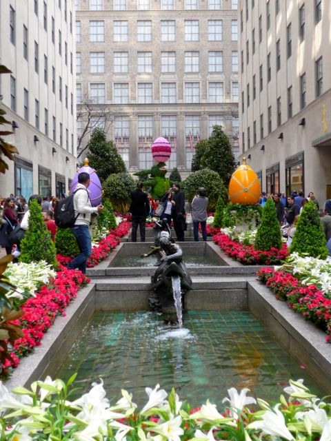 Os jardins do Rockfeller Center.